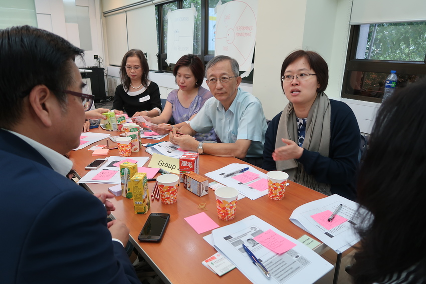 NGO board members and senior management discussed the gains and pains of organization performance monitoring.