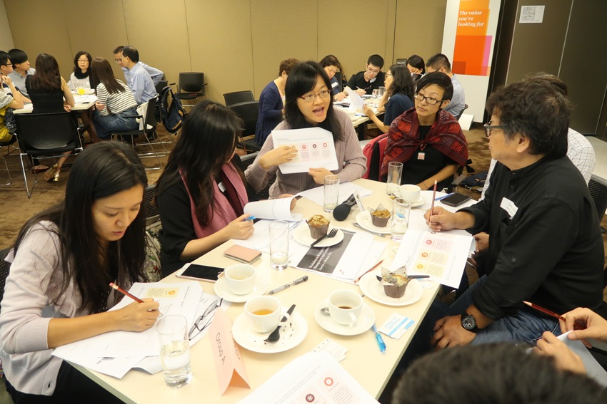 About 10 staff members from PwC joined the workshop and facilitated group discussion.