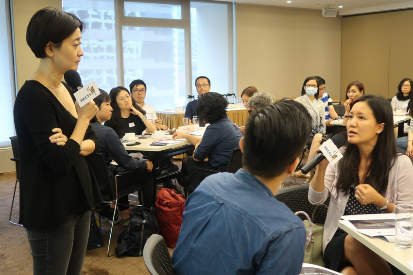 Participants actively shared their experience and raised questions. Ms Tsui made comments and responses accordingly.