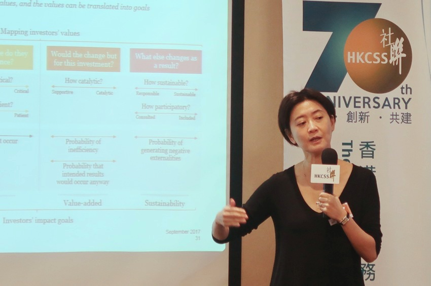Ms Catherine Tsui, Associate Director, Corporate Responsibility, PricewaterhouseCoopers Limited spoke and led the workshop.