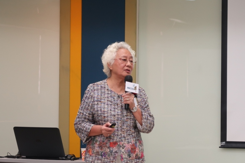 Mrs Patricia Chu, Chairman, Hong Kong Anti-Cancer Society spoke on the Society's development and shared her experience and insights on governance as a Chairman.