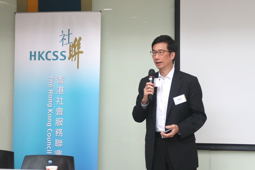 Representative of one the sponsors for the Hong Kong NGO Governance Health Survey, Mr Alan Chow, Executive Director of The D. H. Chen Foundation shared his views on the importance of governance as a former director and described funders' concern of NGO governance.