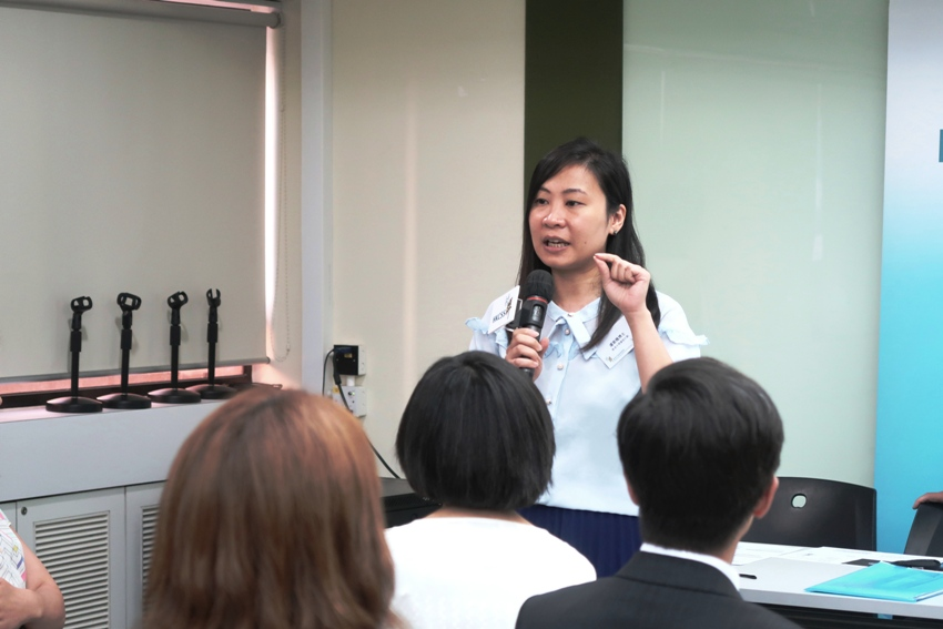 Another representative from the partnering organization of the Hong Kong NGO Governance Health Survey, Dr Ruby Lo of ExCEL3, The University of Hong Kong, explained that the data analysis of the survey will not reveal any individual responses.