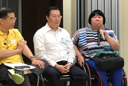 Ms Portia Tsui of Hong Kong Federation of Handicapped Youth shared how they planned for succession