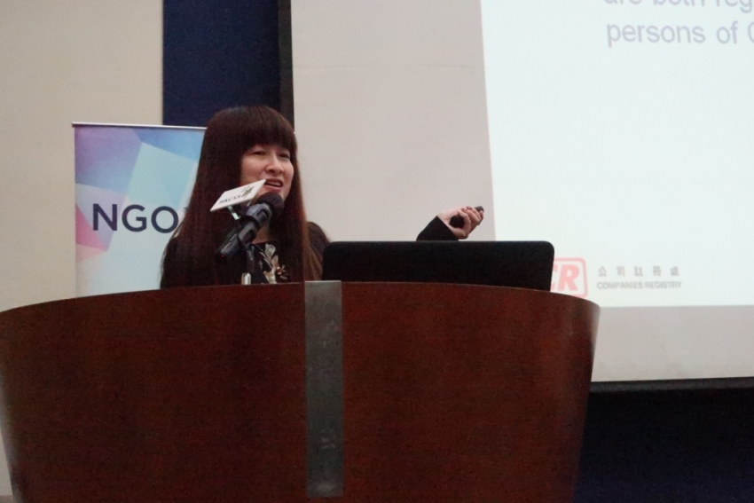 Miss Angelina Mok, Deputy Registry Manager (Registration), Companies Registry shared the definition of a Significant Controller and how to prepare the Register of Significant Controllers, illustrated with examples.