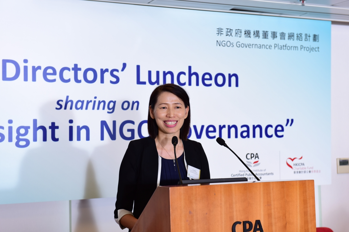 Ms Carol YIP, Director of Social Welfare, attended The Council's first-ever Directors' Luncheon.