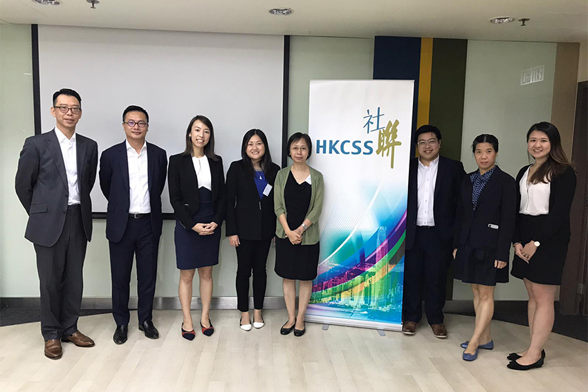 "Group photo: representatives of HKICPA ""CPAs for NGOs"" Program"" and HKCSS."