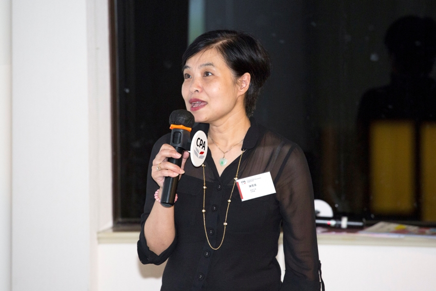 Ms Jane Chan, Honorary Treasurer of Fu Hong Society, emphasized the importance of financial governance by sharing her practical experience serving in board.