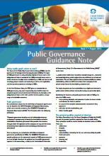 Public Governance Guidance Note Issue 1