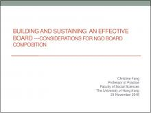 Considerations for NGO Board Composition