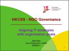 Case Sharing on Aligning IT Strategies with Organization Goals: The Hong Kong Society for Rehabilitation