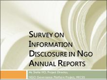 Findings of Survey on Information Disclosure In NGO Annual Reports