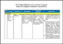 Basic Filing Obligations of a Guarantee Company under the Companies Ordinance