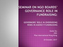 Governors' Role in Overseeing Risks in Agency Fundraising