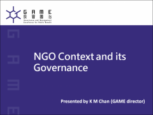 NGOs' Context and its Governance