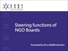 Steering Functions of NGO Boards