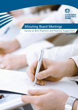 HKICS Minuting Board Meetings – Survey on Best Practices and Practical Suggestions