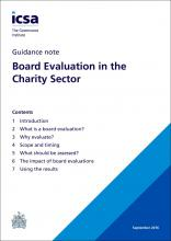 Board Evaluation in the Charity Sector