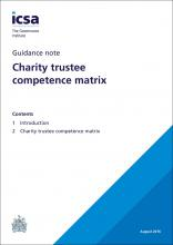 Charity trustee competence matrix