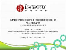 Employment Related Responsibilities of NGO Boards
