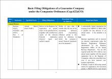 Basic Filing Obligations of a Guarantee Company under the Companies Ordinance (Cap.622)