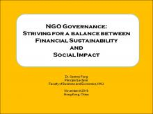 Nonprofit Governance:  Striving for a Balance between Financial Sustainability and Social Impact