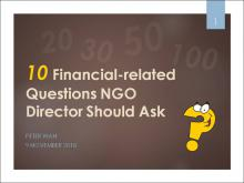 Ten Financial-related Questions NGO Directors Should Ask