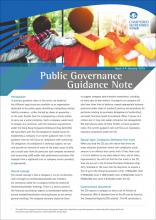 Public Governance Guidance Note Issue 4 - Compliance with Companies Ordinance