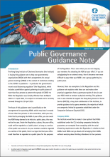 Public Governance Guidance Note Issue 6 - Guidance Note on Social Distancing Regulation