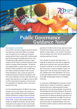Public Governance Guidance Note Issue 5 - Delegation to Committees