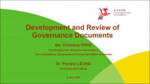 Experience Sharing on Development and Review of Governance Documents of the Hong Kong Society for Rehabilitation