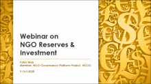 Managing NGO Reserve and Investment